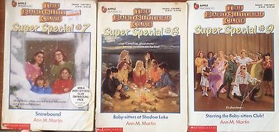 The Baby Sitters Club Super Special #7,8,9 Paperback Book