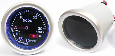 """Smoked 52mm 2"""" Turbo Boost Gauge Psi Ford Escort Sierra Focus RS Turbo Cosworth"""
