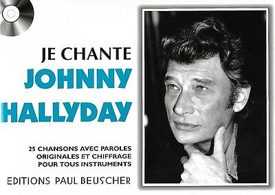 Partition pour voix - Johnny Hallyday - Je Chante Hallyday