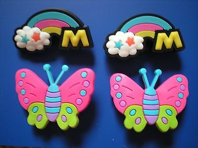 s Clog Charms Clog Plug Button 4 Butterfly Wristband Shoe Accessories