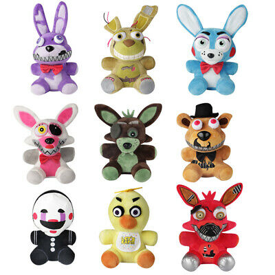 """Five Nights at Freddy's 4 FNAF Horror Game Plush Dolls Kids Plushie Toys 7"""" New"""