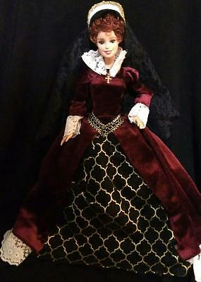 Queen Mary I of England  ~ Barbie doll OOAK Historical Queen