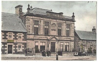 FREUCHIE Lumsden Memorial Hall, Old Postcard Postally Used c1906