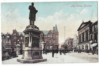 PAISLEY The Cross, Old Postcard by Valentine, Postally Used 1907