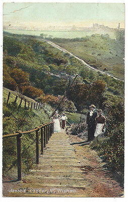 WISHAW Jacob's Ladder, Old Postcard by Francis, Postally Used 1907