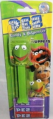 Disney MUPPETS  Pez Dispenser KERMIT THE FROG  [Carded]