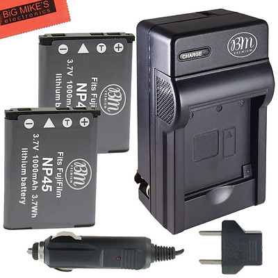 2 NP-45 Batteries And Battery Charger Kit For Fujifilm FinePix XP20 XP22 XP30 XP
