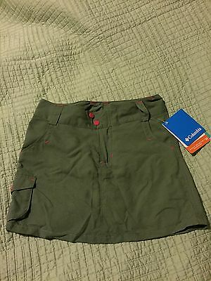 NWT Girls Columbia Sportswear Dark Green Skort Size 6x