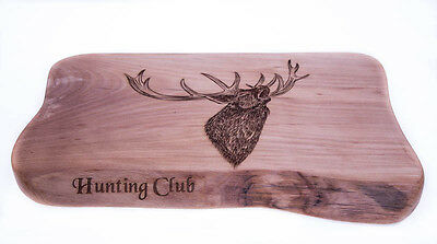 Beech Wooden Chopping Board Hunting Club