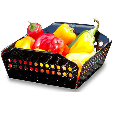Wok Mini Grill Topper Vegetable Non-stick Basket Tray BBQ Berbecue Grilling Tool