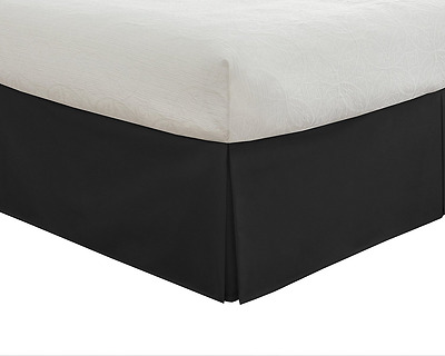 "Lux Hotel Bedding Tailored Bedskirt, Classic 14"" drop length, Pleated Sty"