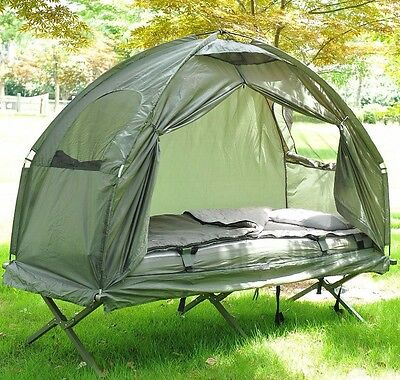 Folding Dome Tent Garden Camping Travel Hiking Shelter Bed Sleeping Bag Outdoor