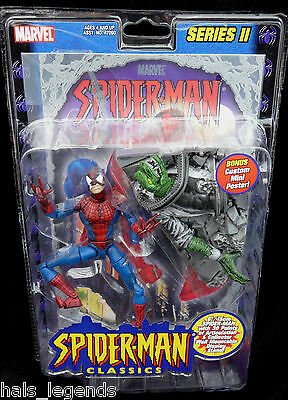 Marvel Spider-Man Classics Series II BATTLE RAVAGED SPIDER-MAN New! Rare!