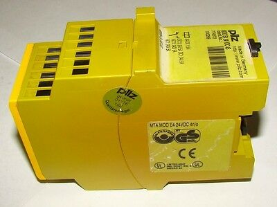 1 pc. Pilz 774572 Safety Relay MTA MOD E4 24VDC 4n/o, MOD E4 24VDC 4S, Used