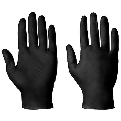Supertouch 100 Strong Tough Black Latex Powder Free Disposable Gloves Medical