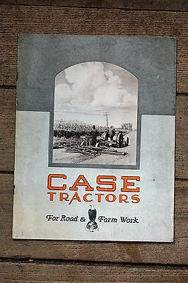 1920's ORIGINAL J. I. Case Tractors for Road & Farm Work Booklet, Excellent
