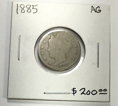 1885 Liberty Head Nickel AG Choice