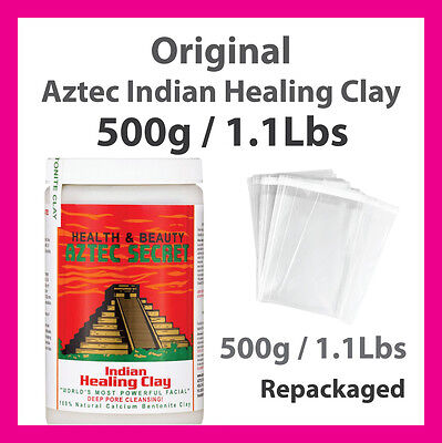 Aztec Secret Indian Healing Clay 500g / 1.1 Lb Bentonite Clay