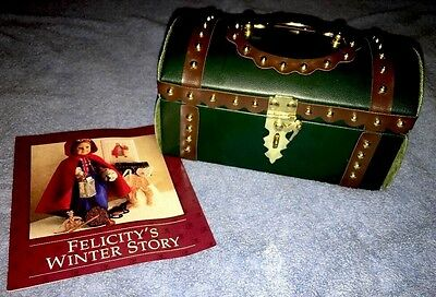 American Girl Pleasant Company Felicity Travel Trunk with Winter Story Pamphlet!