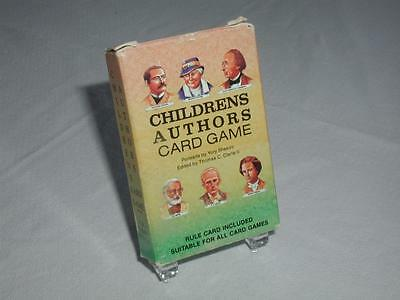 Vintage 1989 Us Games Systems Children's Authors Playing Card Game Unused