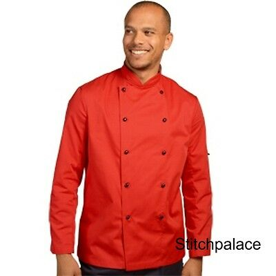 Denny's Technicolour Chef Jacket Red & 10 other Colours Available XS-2XL