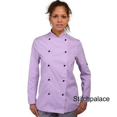 Denny's Technicolour Chef Jacket Lilac & 10 other Colours Available XS-2XL