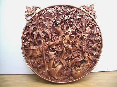 Stunning Balinese Wooden 3D Carving