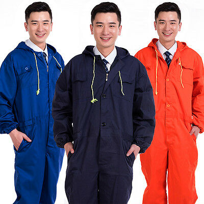 Mens work Hoodie coat Coveralls Mechanic Flightsuit Suit Uniform Choose Overall