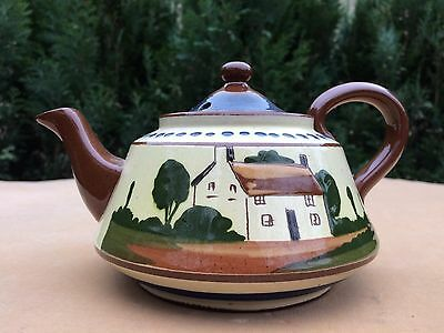 Vintage Torquay Pottery Tea Pot Watcombe Devon