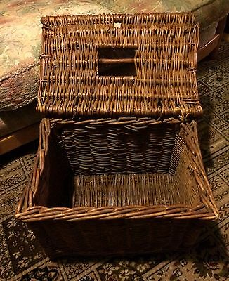 Vintage Wicker Fishing Creel Basket