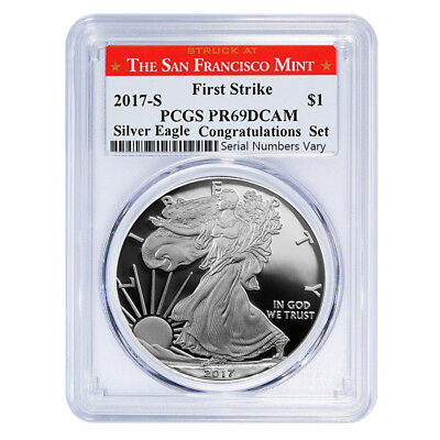 PRESALE - 2017-S 1 oz Proof Silver American Eagle PCGS PF 69 DCAM First Strike (