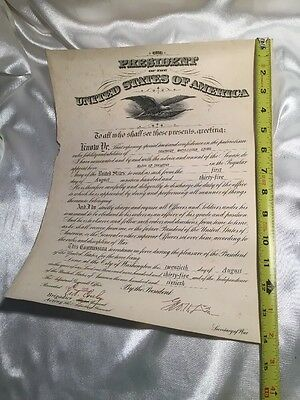 George Dern Secretary Of War 1935 Signed Military Commission Document Major