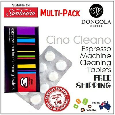 SUNBEAM Espresso Coffee Machine Cleaning Tablets Cleaner Clean by Cafetto