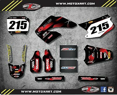Honda CR 125 250 - 2000 2001 Full Graphic kit Barbed Style Stickers Graphics
