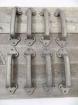 8 Cast Iron Handles Door Hardware Pull Gate Shed Drawer Cabinet Barn Shed Gate