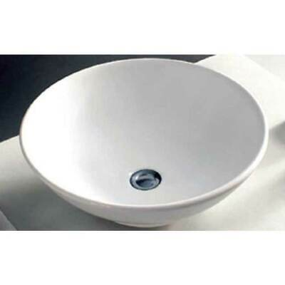 ECT Global 4030 Above Counter Round Basin Ceramic Vanity Vessel Sink WHITE