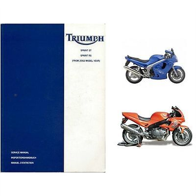 2002-2003-2004 Triumph Sprint ST / Sprint RS Service Manual on a CD