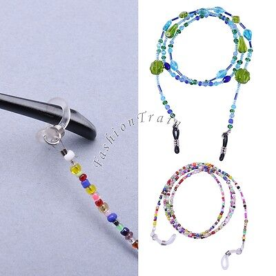 Beads Beaded Eyeglass Spectacle Reading Glasses Chain Neck Cord Lanyard Holder