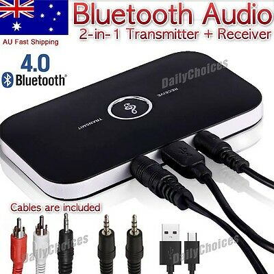 HIFI Wireless Bluetooth Audio Transmitter and Receiver 3.5MM RCA 2 in1 Adapter