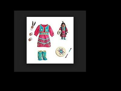 Kaya American Girl Doll Retired Modern Jingle Dress of Today and Accessories NIB