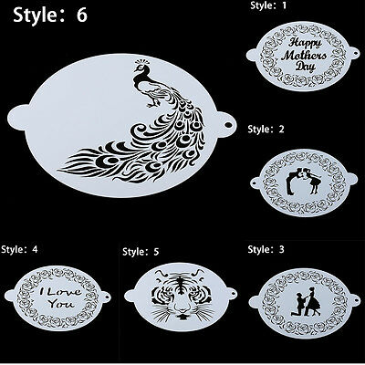 8 Inch Plastic Cake Stencil Mold Embossing Mould Baking Tool Spraying Template