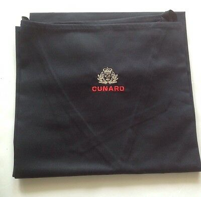 Brand New - Cunard Line Ship Apron-Black- From The Queen Elizabeth- FREE POSTAGE
