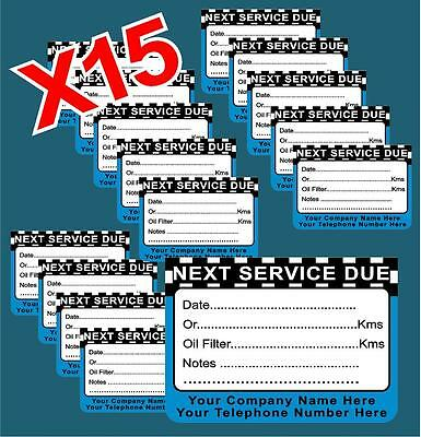 Next Service Due Garage Mechanic Sticker X15 Service Station Garage Business