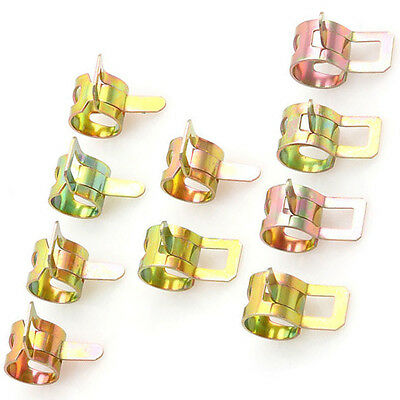 60x 6-15mm Spring Clips Fuel Oil Water Hose Clip Pipe Tube Clamp Fastener