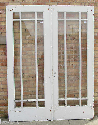 9 Light Pair of French Doors Deco Arts & Crafts Mission Architectural Salvage