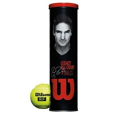 Wilson RF Legacy All Court Tennis Balls (Can). Delivery is Free