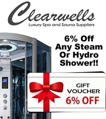 6% off Voucher All steam showers hydro shower & whirlpool baths clearwells.co.uk