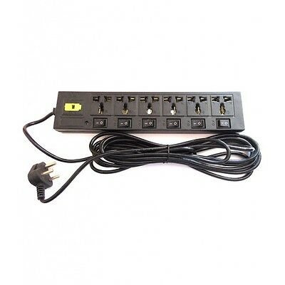 Power Strip Multi Plug Extension Cord Outlet 6 Amp 250v AC 5 mtr Wire