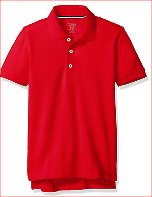 French Toast Boys' Short Sleeve Pique Polo Red Size 4T