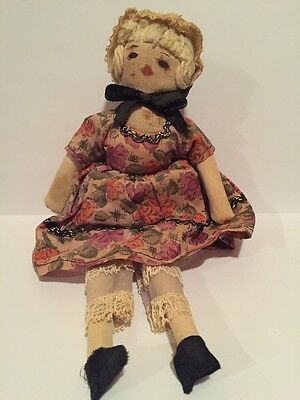 """Very Old Vintage Hand Made 8""""Tall, Great For Collectors,made From Material, Used"""
